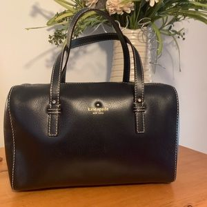 Kate Spade Black Leather Satchel with Dust Bag